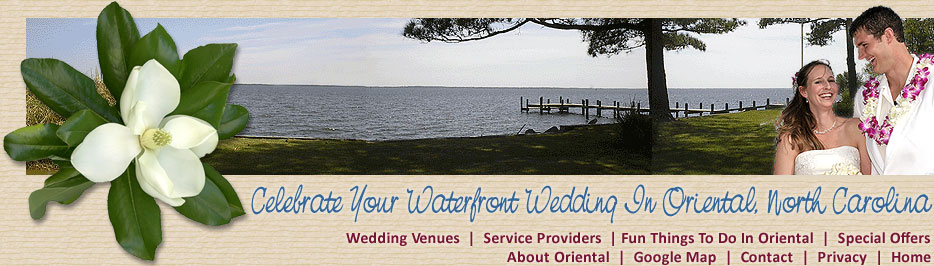 Weddings In Oriental, NC and a view across the Neuse River